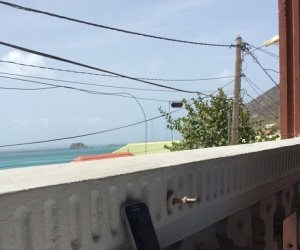 Telephone and Power Lines in Grand-Case, St. Martin